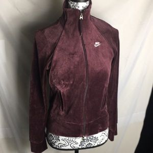 Nike Velour Track Jacket Size Small